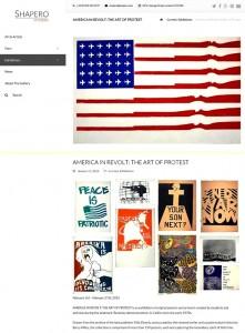 Shapero Modernのウェブサイト