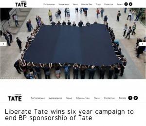 Liberate Tateのウェブサイトより